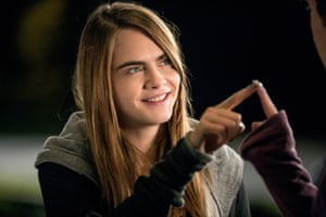 Cara Delevinge in the upcoming film of John Green's Paper Towns.