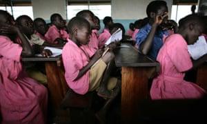 Children at Katine primary school, Katine, Uganda