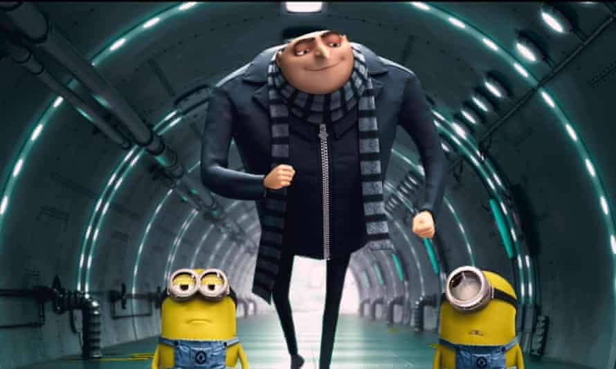 Gru and minions in the film Despicable Me