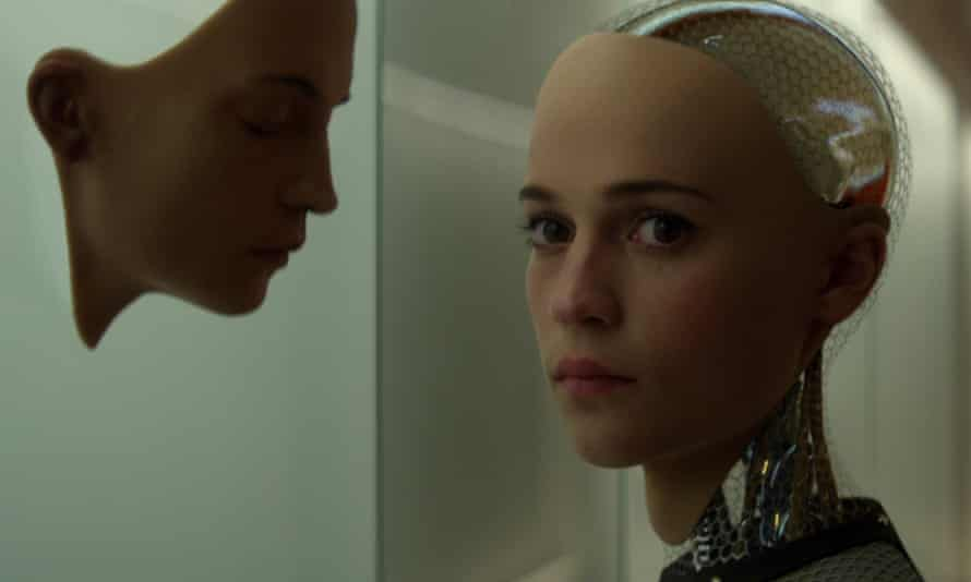 Still from Ex Machina film of artificial intelligence  robot