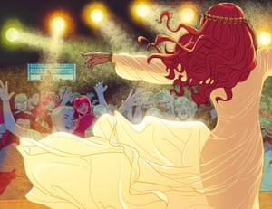 Pop goddess … fans worship Florence Welch in the Phonogram comic series The Wicked & the Divine.