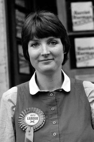Harman campaigning in the 1982 Peckham byelection, which she won, becoming an MP for the first time.