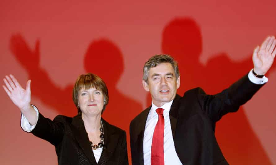 With Gordon Brown at the 2007 Labour party conference. Brown never called Harman deputy prime minister. 'He should have done,' she says.