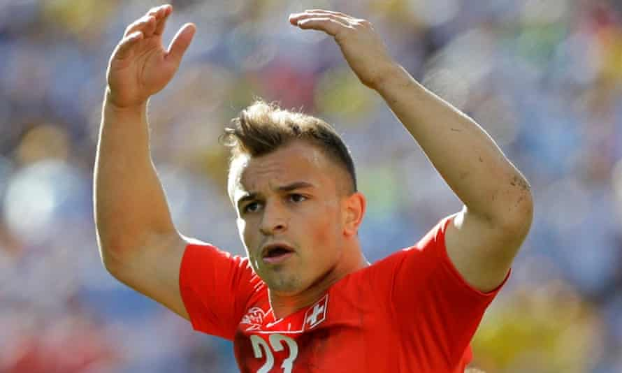 Switzerland's Xherdan Shaqiri could join Everton on loan from Internazionale if terms can be agreed.