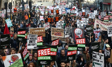 Tuition fees have provoked student protest, but the government is prepared to allow some universities to raise them further.