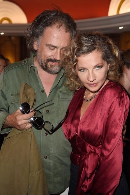 Simon Liberati and Eva Ionesco at a  Paris fashion shjow in 2014.