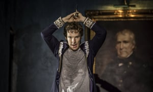 Benedict Cumberbatch performs in Lyndsey Turner's production of Hamlet at the Barbican