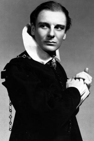 John Gielgud as Hamlet on Broadway in New York in 1936.