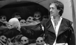Jonathan Pryce as Hamlet at the Royal Court theatre, London, 1980.