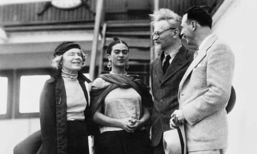 Trotsky being met by Frida Kahlo on his arrival in Mexico.
