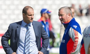 Andrew Strauss with England's assistant coach Paul Farbrace