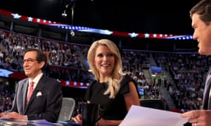 Fox News Channel debate moderators (left to right), Chris Wallace, Megyn Kelly and Brett Baier.