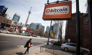 A Bitcoin ATM site in Toronto, Canada.