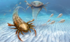 What scientists think Pentecopterus decorahensis, Earth's first big predatory monster, looked like.