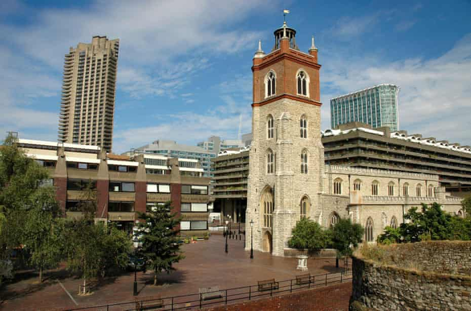The Barbican development surrounds St Giles church, Cripplegate.