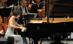 'Sheer physical strength' … Yuja Wang plays Prom 61 with the San Francisco Symphony.