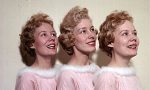 Joy Beverley, centre, with her sisters Teddie and Babs in the mid 1950s.