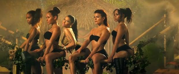 Nicki Minaj in her video for the song Anaconda.