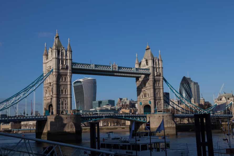 Tower Bridge with 20 Fenchurch Street in the background.