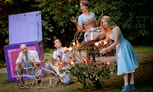 Creation Theatre's production of Alice at St Hugh's College, Oxford.