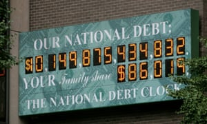 The National Debt Clock pictured in 2008, when a new digit had to be introduced.