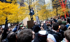 Open to the public 24/7, Zuccotti Park was an ideal camping ground for OWS protesters in October 2011.