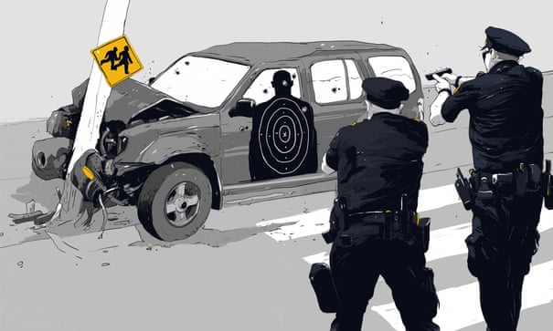 US police act against federal guidelines with shootings into