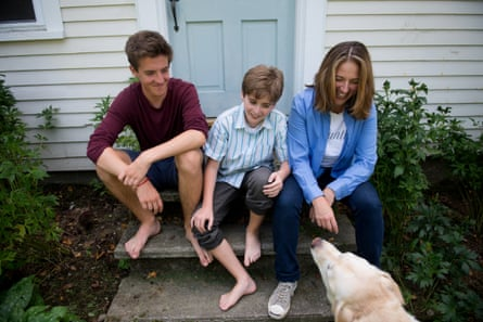 Jessica Lahey with sons Ben and Finn