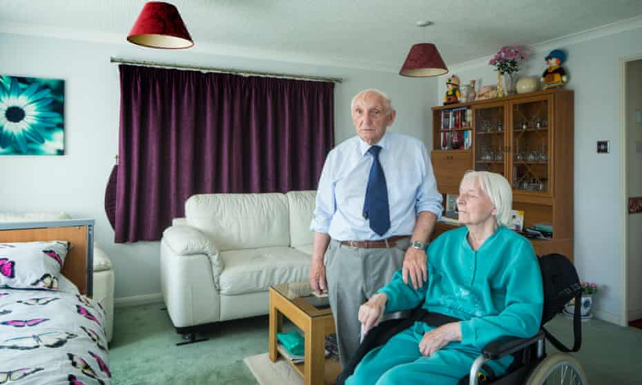 Eric Lancaster and his wife Sheila who has Alzheimer's
