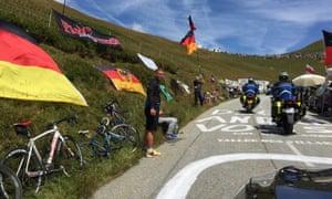 road up the col du glandon