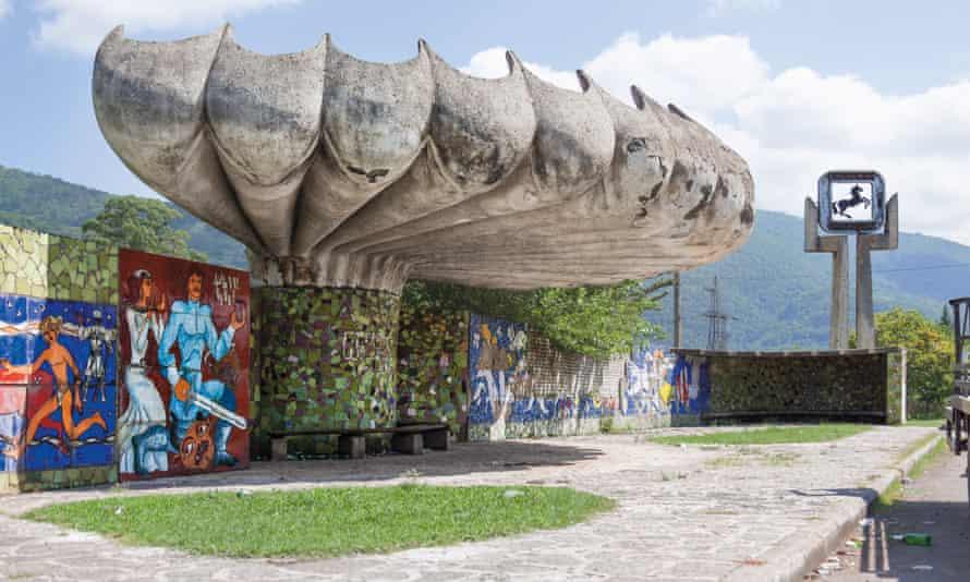 A bus stop in Pitsunda, Abkhazia
