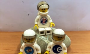 The Lego toys travelling to the ISS with Danish astronaut Andreas Mogensen.