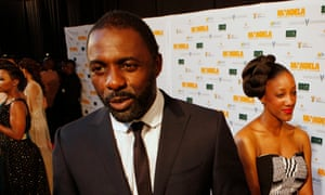 Idris Elba at the South African premier of the film Mandela - Long Walk To Freedom, in which he played the title role.