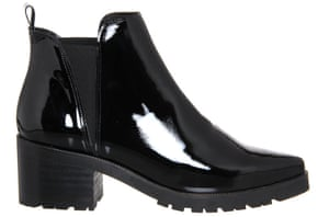 Patent chelsea boots, £85, office.co.uk