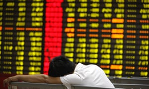 Stocks plunging in Huaibei, Anhui province, China, last week