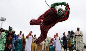 A masquerade dancer in Abuja
