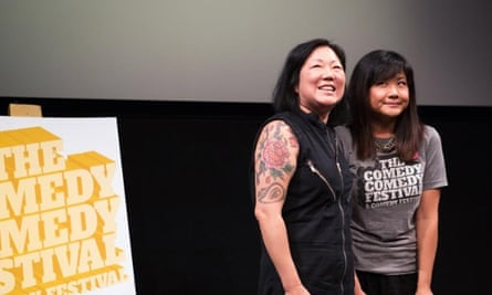 Margaret Cho and Jenny Yang on stage at the Comedy Comedy festival