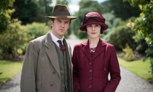 Doomed… Dan Stevens as Matthew Crawley with Michelle Dockery as Lady Mary.