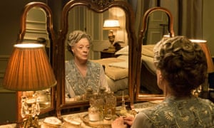Violet behaviour… Maggie Smith as the Dowager Countess of Grantham.