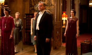 Stiff upper Brit… Hugh Bonneville as Lord Grantham, with Elizabeth McGovern as Lady Cora, and Michelle Dockery as Lady Mary.