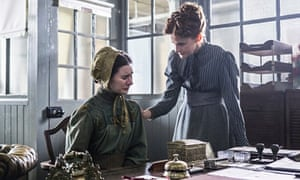Protector … Louise Brealey as Dr Amelia Frayn (right) in Ripper Street. Photograph: Bernard Walsh/BB