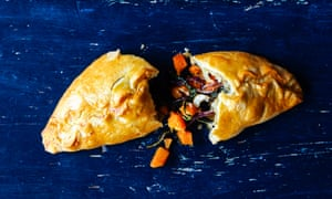 Squash, goat's cheese andspinachpasties