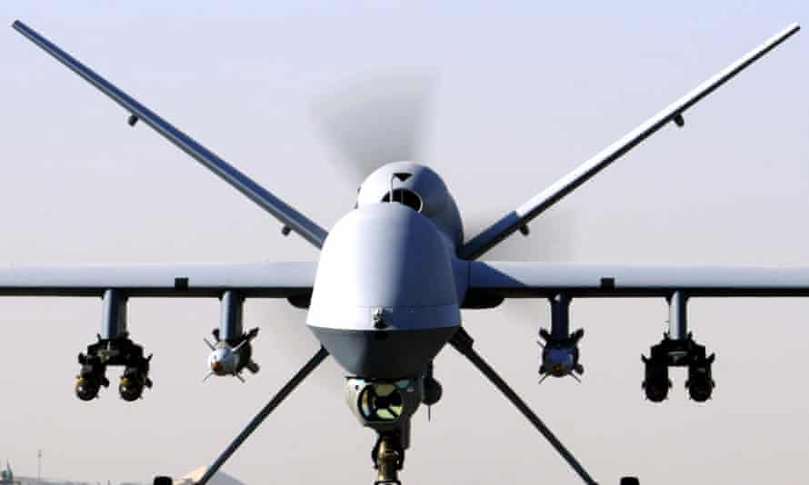 An RAF Reaper UAV as two British citizens who were fighting for Islamic State (IS) were killed in an RAF drone strike in Syria which was carried out without parliamentary approval, David Cameron said.