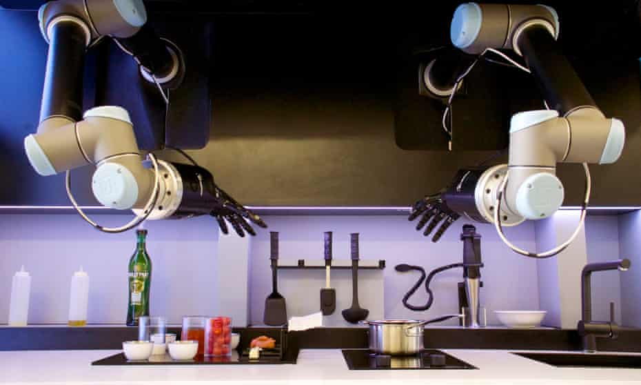 The Moley Robotics automated kitchen.