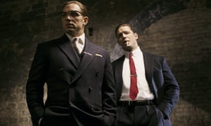 Tom Hardy as both Ronnie and Reggie Kray in Legend.