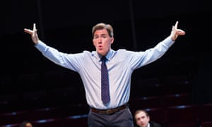 Rob Brydon as Mr Crane in Future Conditional at the Old Vic, London.