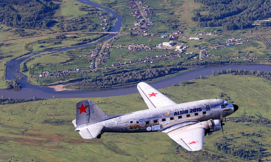 One of the Douglas DC 3s over Krasnoyarsk, Russia