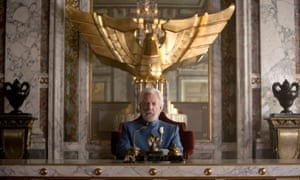 """Donald Sutherland portrays President Snow in a scene from """"The Hunger Games: Mockingjay Part 1."""" (AP Photo/Lionsgate, Murray Close)"""