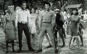 Elvis Presley's poor CGI job in Kissin' Cousins was nothing but a mess.