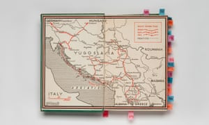 The Map of Yugoslavia from the first edition of Rebecca West's Black Lamb and Grey Falcon (1941)